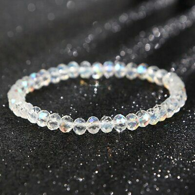 Elastic Geometric Square Crystal Charm Beads Bracelets Women Summer Jewelry Gift