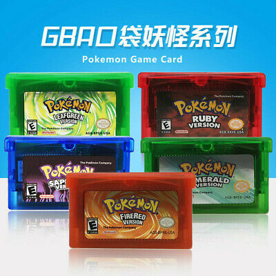 HOTGame Cards Pokemon Sapphire/Emerald/FireRed/LeafGreen/Ruby for GBM/GBA/SP/NDS