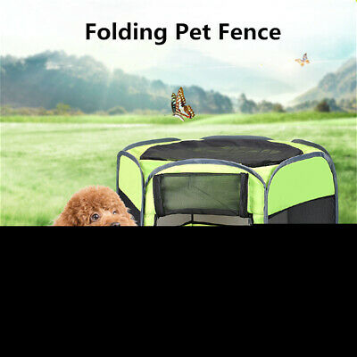 Portable Dog Cat Pet Tent  Folding Kennel Puppy Playpen House Bed Fence