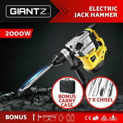 Giantz 2000W Jack Hammer  4 In 1 Drill Electric Demolition Rotary Jackhammer