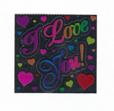 Vintage 80's Sandylion Mylar Foil Sticker - I Love You