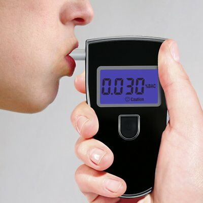 HI-Q Portable Digital Alcohol Breathalyser Breath Tester Breathtester Blue LCD