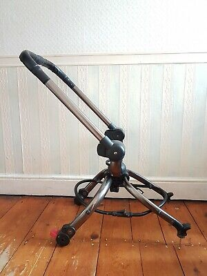 Mothercare Orb Chassis Graphite Pram Frame with Black Leather Handle