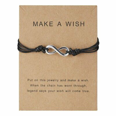 Mother's Day Gift Make a Wish Card Bracelet Charm Women Friendship Jewelry Hot