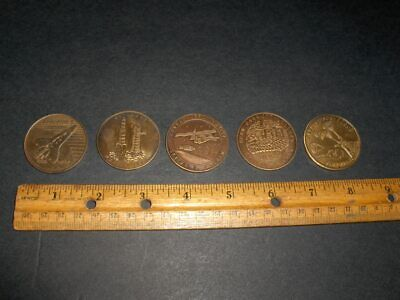 Vintage Nasa (5) Item Coin Medallion Lot Includes Spacelab 1 And Skylab Missions