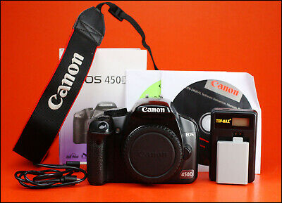 Canon EOS 450D Digital SLR Camera, Sold With Battery, Charger,Manual & Software