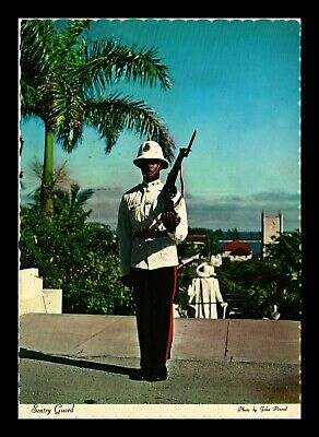 Dr Jim Stamps Sentry Guard Bahamas Royal Police Force Continental Size Postcard