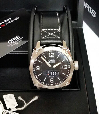 Oris BC4 Retrograde Day Date Mens Automatic Watch 7617 Box Papers