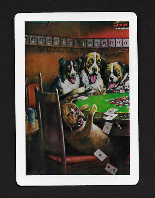 Poker dogs dog playing card single swap ace of spades - 1 card