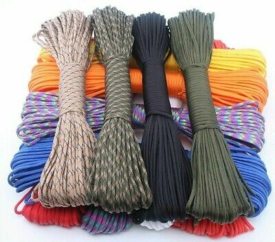Paracord 550 Rope Type III 7 Stand 100FT 50FT Parachute Cord Rope Survival