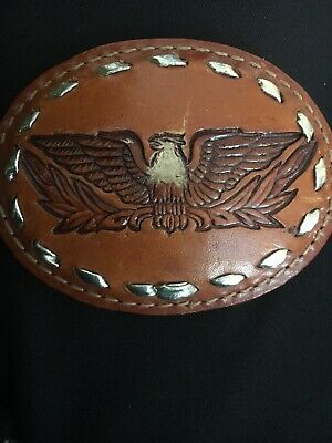 Belt Buckle Eagle Brazo Joe Belts Leather Biker Vet. approx. 3.5 x 2.5 in (I)