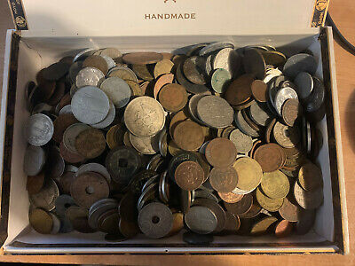 Foreign Coin Lot GRAB BAG of 50! All Coins Minimum of 60 Years OLD!
