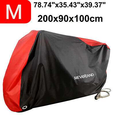 78'' 200CM Motorcycle Cover w/ Storage Bag Water Resistance&Wind Dust Proof 190T