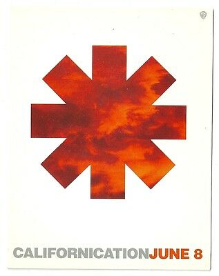 Vintage 1999 Red Hot Chili Peppers New Release Card Unposted