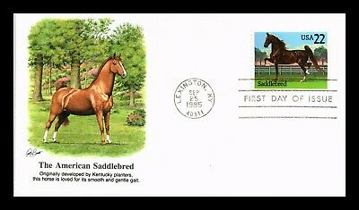 Dr Jim Stamps Us American Saddlebred Horse First Day Cover Lexington Kentucky