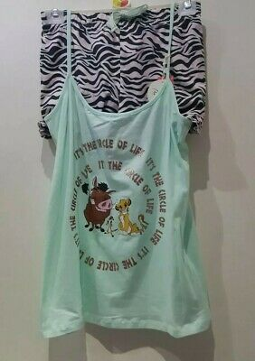 Brand New With Tags Primark Disney The Lion King Vest And Shorts Pyjama Set