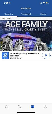 Ace Family Charity Basketball Event - 4 Tickets!