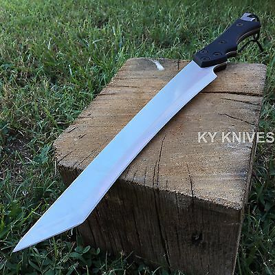 "19"" Ninja Full Tang Sword Machete Tactical Combat Warrior Samurai Hunting S"