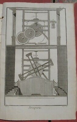 "1765 Diderot Engraving - Cloth Maker (""Draperie"") - Plate XI -"
