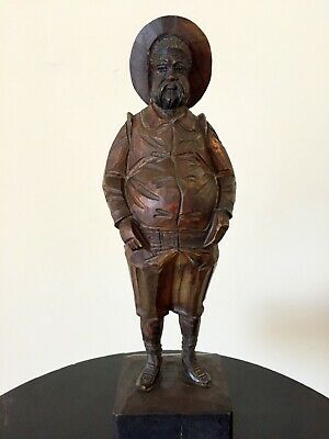 Vintage Unique Wooden Wood Hand Carved Figurine Figure Cowboy Man Art sculpture