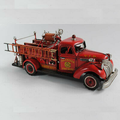 1941 Chevy Fire Army Fireman Truck Volunteer Dept 1:24 Scale Handcrafted Figure