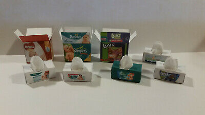Barbie Doll 1:6 Miniature Nursery Baby Box of Diapers Wipes