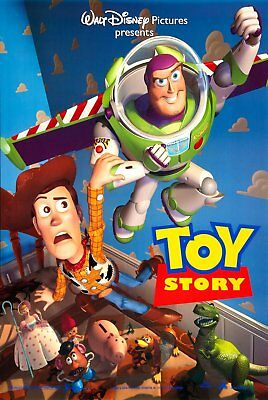 "Disney's Pixar TOY STORY Original 1995 DS 2 Sided 27x40"" Movie Poster Tom Hanks"