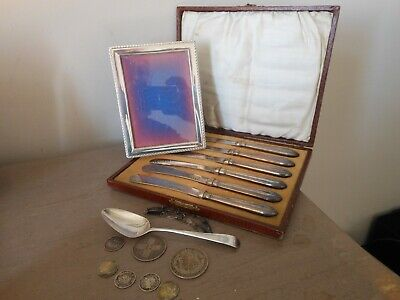 Job Lot Solid Silver Hallmarked Items Lot Sell & Scrap
