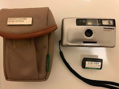 Hanimex TechniAF Film Camera w United Colors Of Benetton Camera Bag & Film