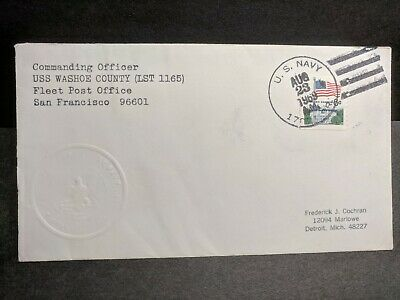 USS WASHOE COUNTY LST-1165 Naval Cover 1969 Embossed Cachet