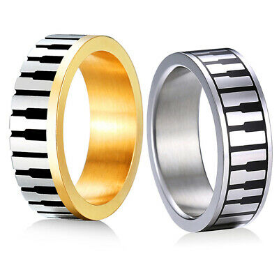 NEW Mens Womens Ring Band 316L Stainless Steel Rings Wedding Anniversary Jewelry