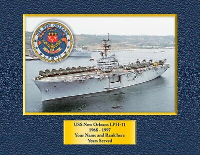 USS New Orleans LPH-11 Custom Personalized Print of US Navy Ships Unique Gift