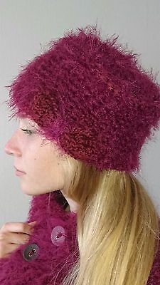 Superb Beanie Hat in Chunky Wool, - Handmade, Model Unique