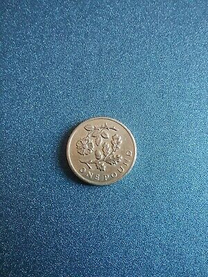 OLD ROUND POUND  2013 * Floral One Pound (£1) Coin * Rose and Acorn
