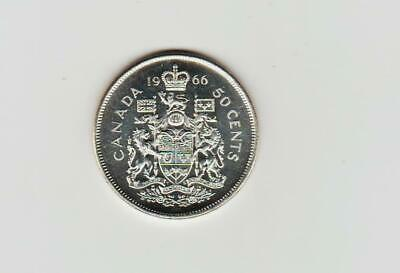 1966 Canada Silver 50 cents UNC
