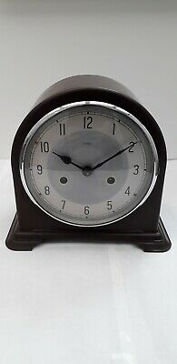Smiths Enfield Bakelite Lovely Chiming Mantle Clock In Good Working Condition