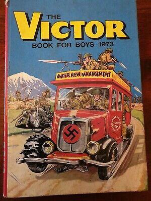 The Victor Book for Boys - 1970 vintage annual - Price Unclipped - RARE