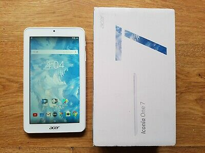 """Acer Iconia One 7"""" in Tablet Wi-Fi B1-7A0 A7004 White 16GB Memory 1GB RAM MINT !"""