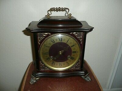 Vintage, Odo Bracket Clock in Ornate Case, Made in France, Excellent Condition.