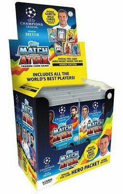 Topps Champions League Match Attax 2017/18 Display mit 50 Booster Nordic Edition
