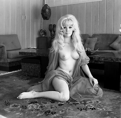 1960s Bunny Yeager Archive Camera Negative Photo SANDY BOWMAN Topless Pin Up