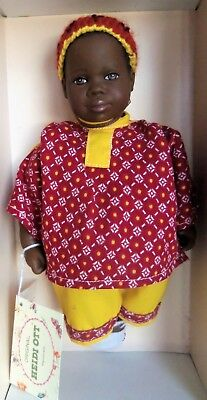 "Heidi Ott Little Ones AA African 8"" BABY JEFFRY Doll MIB"