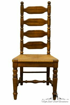 High End Rustic Country Style Ladderback Dining Side Chair w. Rush Seat