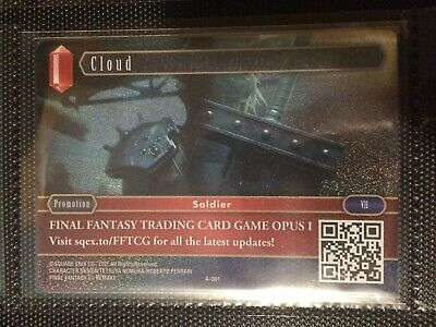Final Fantasy TCG FFTCG Cloud A-001 Trading Card Rare English Promo Opus