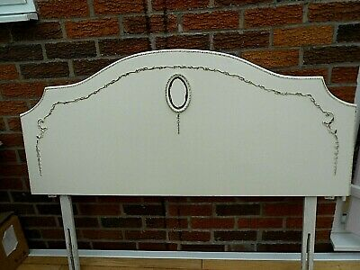 vintage french  louis double headboard cream/ivory /gold