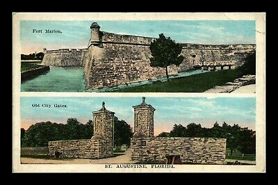 Dr Jim Stamps Us Ft Marion Old City Gates St Augustine Florida View Postcard