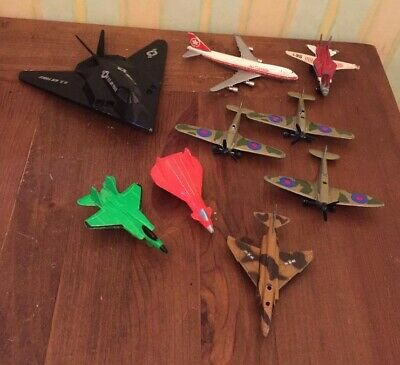 Vintage Die Cast Plane Jet Job Lot Bundle ERTL Schabak Matchbox Spitfire Models