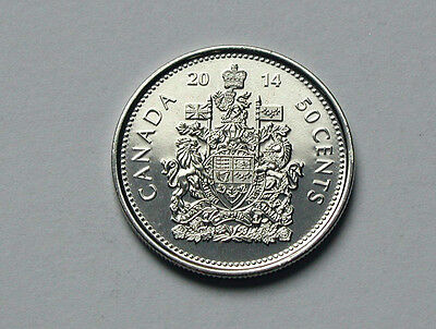 Canada 2014 50 CENTS Coin - BU UNC Brilliant Uncirculated - From Mint Roll
