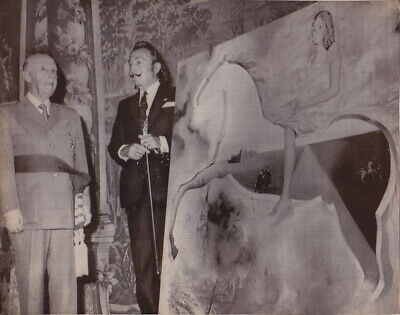 SALVADOR DALI & Large FRANCO Painting * VINTAGE Iconic CLASSIC Rare 1972 photo