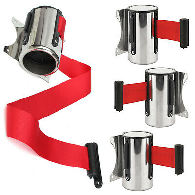 Outdoor Wall Mount Retractable Ribbon Stainless Steel Protective Tape 2m/ 5m